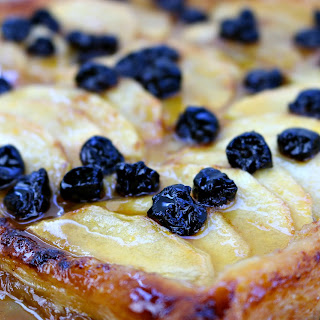 French Apple Tart with Dried Cherries.
