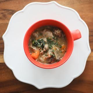 Simple Beef Stew with Root Vegetables.