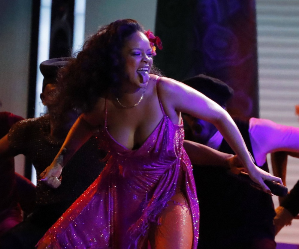"Rihanna performs ""Wild Thoughts"" at the 60th Annual Grammy Awards Show in New York, U.S. Image: REUTERS/Lucas Jackson"