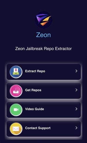 zeon-homescreen