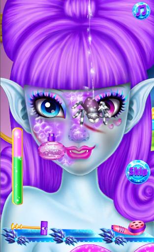怪物公主化妆 - 女孩
