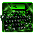 Black Green Crystal Keyboard Theme APK