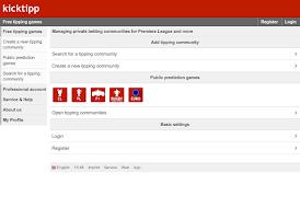 Screenshot of Kicktipp