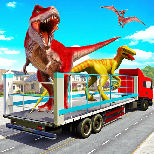 dinossauro bravo transporte zoológico: caminhão