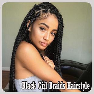 Černá holka prýmky účes - náhled