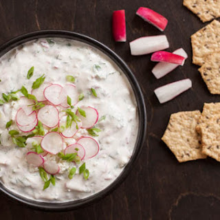 Radish Dip with Cilantro and Queso Fresco