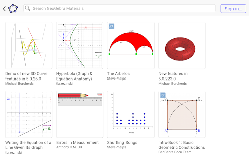 GeoGebra Math Calculators- screenshot thumbnail