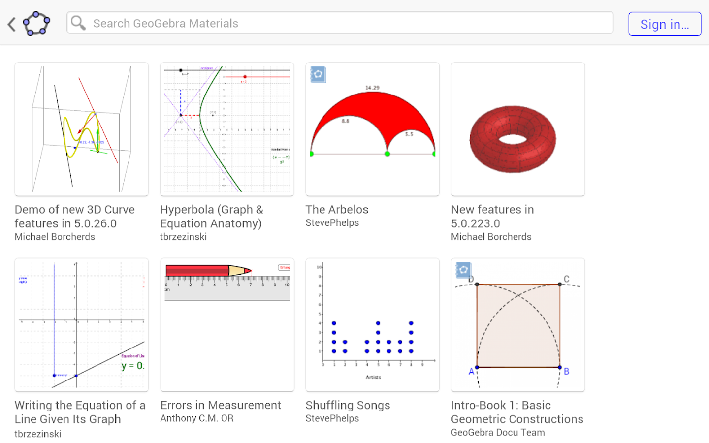 GeoGebra Math Calculators- screenshot