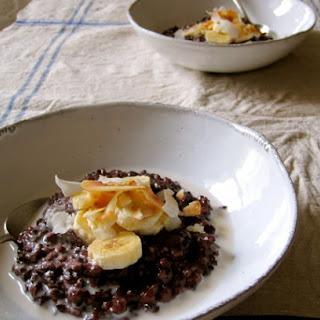 Black Rice Porridge with Coconut.