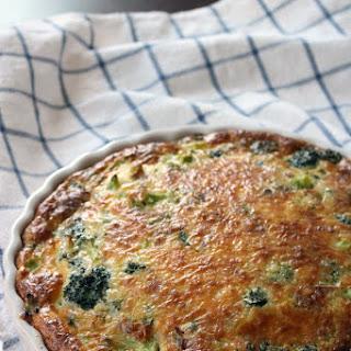 Crustless Broccoli, Bacon, and Cheddar Quiche Recipe