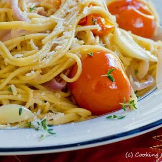 Whole Grain Spaghetti with Cherry Tomatoes & Pecorino Romano