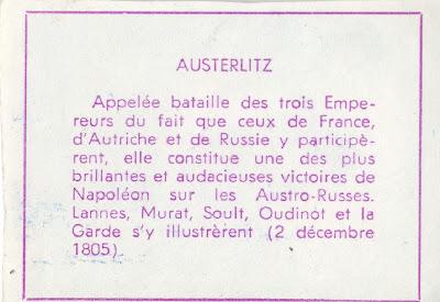 Bataille d'Austerlitz (verso)