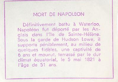 Mort de Napoléon (verso)