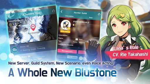 Blustone 2 - Anime Battle and ARPG Clicker Game  captures d'écran 3
