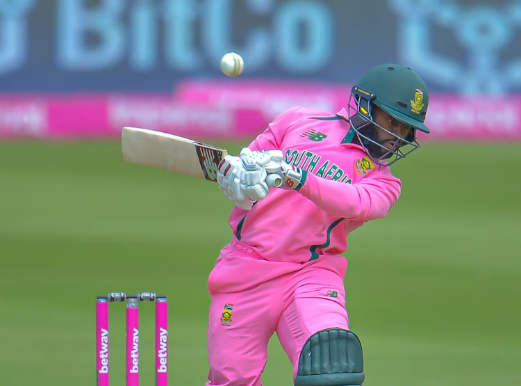 SA captain Temba Bavuma ducks under a high ball during the 2nd ODI match against Pakistan at the Wanderers on Sunday.