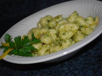 Ricotta Gnocchi with Lemon Basil Pesto