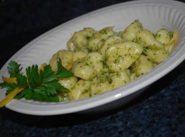 Ricotta Gnocchi With Lemon Basil Pesto Recipe