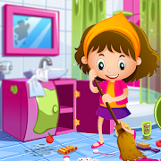 Princess Doll House Cleaning Game for Girls