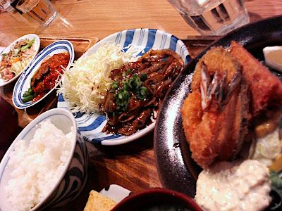menú del día japonés 定食 中田中 Nakatanaka lunch special