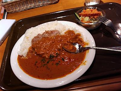 Hamburguesa con curry hindú インドハンバーグカレー Indian curry hamburger