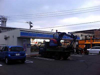 コンビニ ショベルカー combini conbini excavadora excavator konbini 油圧ショベル