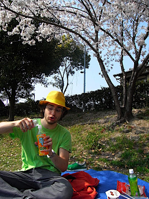 hanami 花見 parque 公園 park 焼酎 shochu cubata cocktail ジュース割り