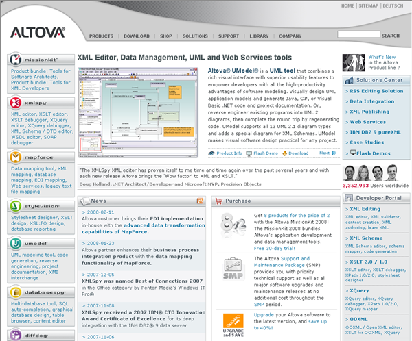 Altova Web Site