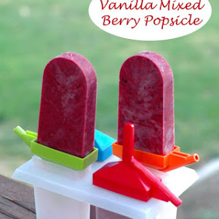 Vanilla Mixed Berry Popsicle Recipe