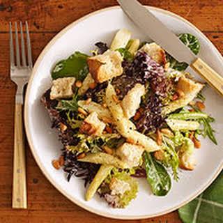 White Asparagus Bread Salad with Hollandaise.