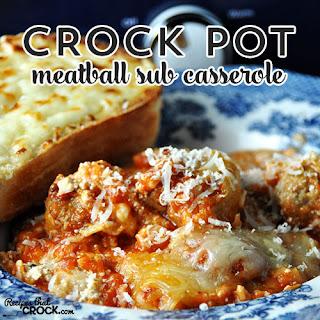 Crock Pot Meatball Sub Casserole