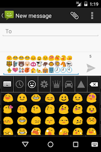 White Emoji Keyboard Emoticons screenshot 1