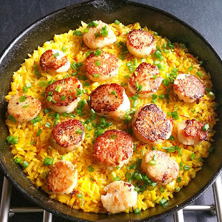 Healthy Scallop Paella