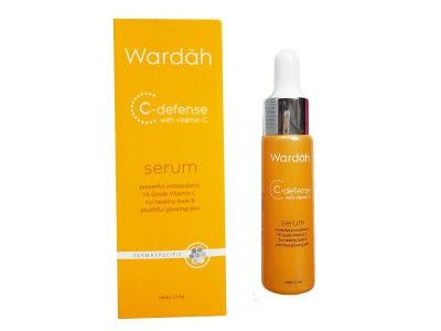 C Defense Serum WARDAH CD mencerahkan melembabkan memutihkan menjaga elastisitas menyehatkan kulit