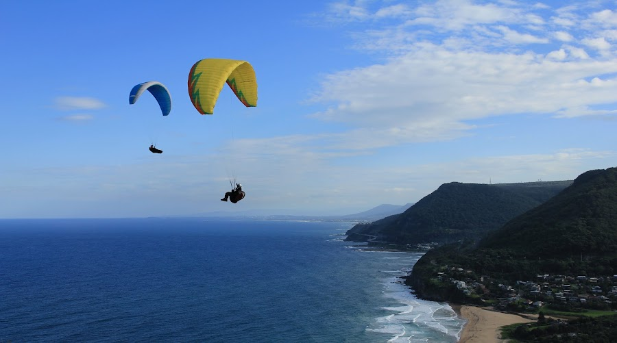 by Chaitali Dhua - Landscapes Travel ( paragliding, sea-cliff bridge,  )
