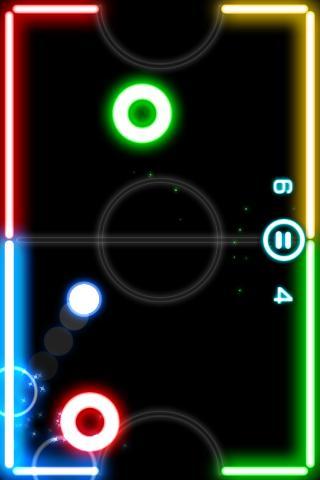 Glow Hockey screenshot 1