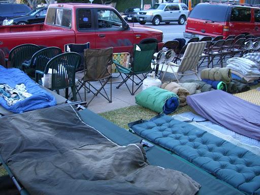 Nombre de refugies campent