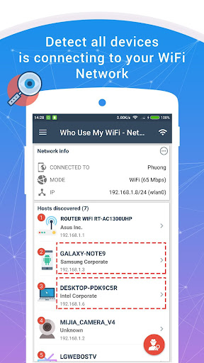 Who Use My WiFi - Network Scanner 1.6.1 screenshots 1