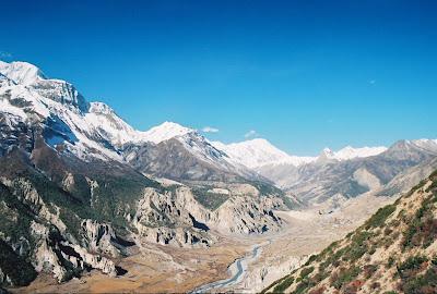 Annapurna Ciruit Trek - Near Manang Village