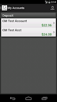 Screenshot of CFSB Mobile Banking