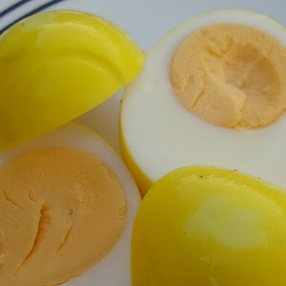 Mustard Pickled Eggs.