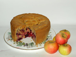 Photo: ultra deep apple and blackberry pie