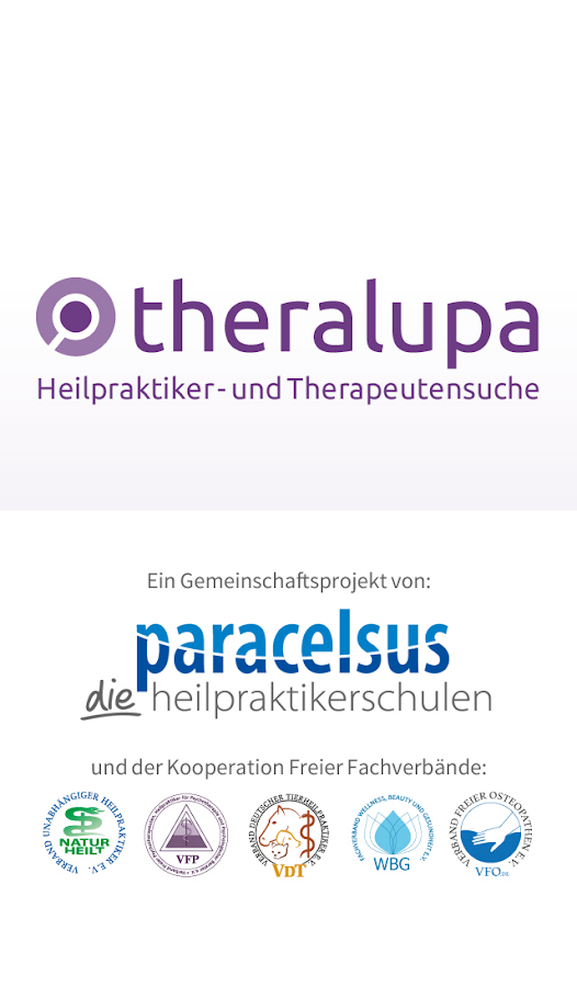 theralupa die alternative Therapeutensuche- screenshot