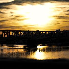 by Kareem Mohamed - Buildings & Architecture Bridges & Suspended Structures ( love, sky, bridge, sun, water,  )