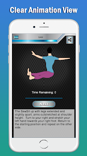 Pilates : Home Fitness Workout & Routine Exercises Screenshot