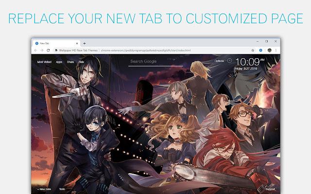 Black Butler Wallpaper HD Custom New Tab