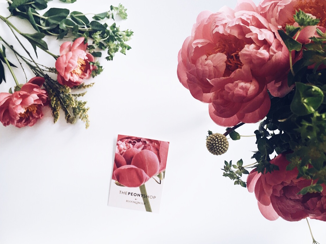 Eloise Bloom & Wild Coral charm peonies, accented with craspedia, bupleurum and solidago #LetterboxFlowers