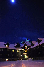 Photo: Montebello. Orion is visible just above the lodge