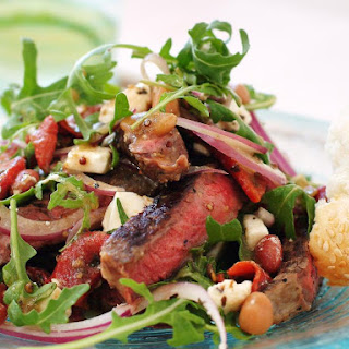 Steak with Three Bean and Feta Salad