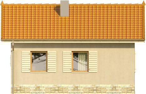 Domek 8 - Elewacja tylna