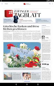 Zofinger Tagblatt - E-Paper screenshot 5